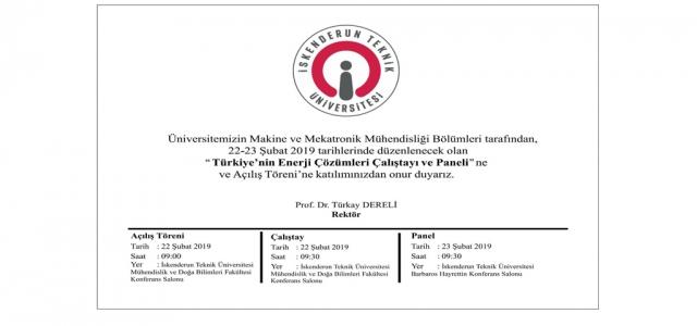 Türkiye'nin Enerji Çözümleri Çalıştayı Ve Paneli
