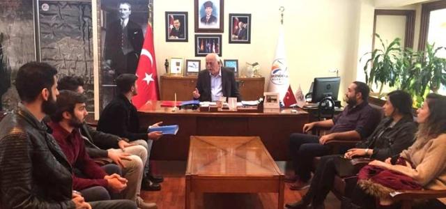 Üniversiteli Mucitlerden Seyfi  Başkan'a Ziyaret